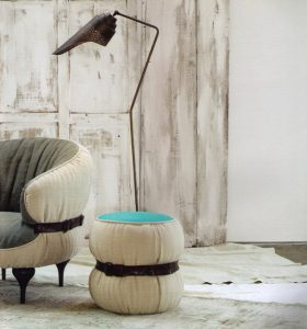 chubby chic pouf by diesel with moroso