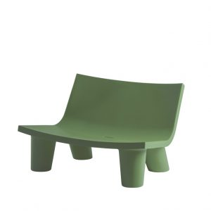outdoor colored love seat by slide design