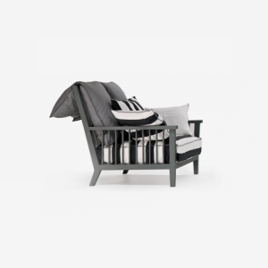 gray armchair livingroom design made in italy