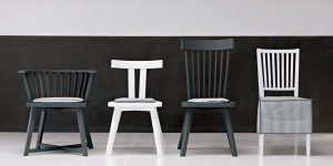 Gray 21 chair by Gervasoni