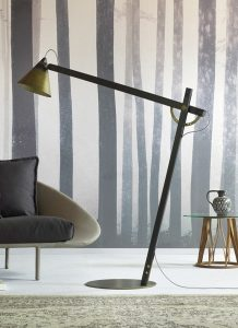 slope floor lamp bronzé