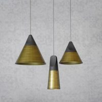 slope bronzé suspension lamp miniforms
