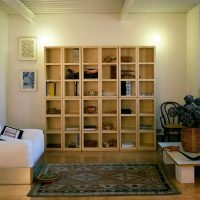 storage bookcase in wood