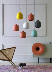 italian design lamp in ceramic