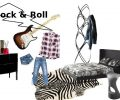 moodboard camera da letto arredamento contemporaneo rock