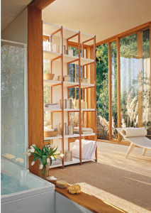 solaio bookcase in wood by horm design