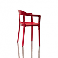 steelwood magis chair red