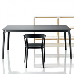 steelwood black table by magis