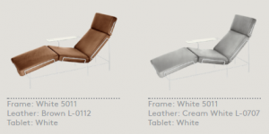 traffic chaise longue leather color