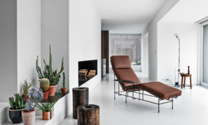 traffic chaise longue magis in leather