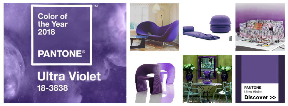 the color of the year 2018 in Italian design furnishings